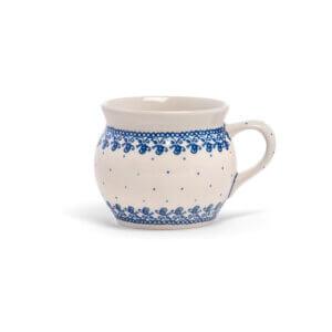 Bunzlauer Keramik Kugeltasse 400ml Dekor D-866 Handarbeit
