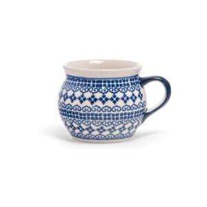 Bunzlauer Keramik Kugeltasse 400ml Dekor D-922 Handarbeit