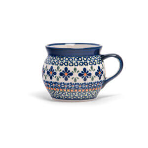 Bunzlauer Keramik Kugeltasse 400ml Dekor DU-60 Handarbeit