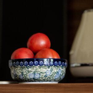 Bunzlauer Keramik Schüssel rund 15.7 cm Dekor A-1073A Handarbeit
