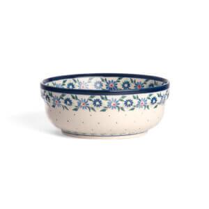 Bunzlauer Keramik Schüssel rund 15.7 cm Dekor A-1163A Handarbeit