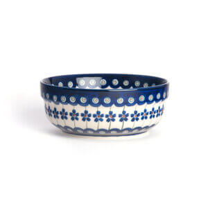 Bunzlauer Keramik Schüssel rund 15.7 cm Dekor A-166A Handarbeit