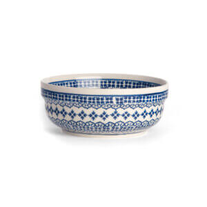Bunzlauer Keramik Schüssel rund 15.7 cm Dekor D-922 Handarbeit