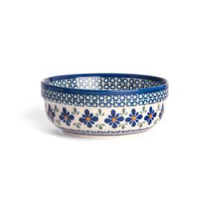 Bunzlauer Keramik Schüssel rund 15.7 cm Dekor DU-60 Handarbeit