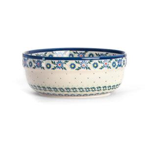 Bunzlauer Keramik Schüssel rund 20 cm Dekor A-1163A Handarbeit
