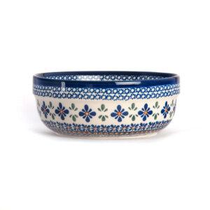 Bunzlauer Keramik Schüssel rund 20 cm Dekor A-221A Handarbeit