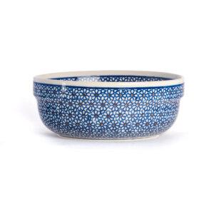 Bunzlauer Keramik Schüssel rund 20 cm Dekor D-120 Handarbeit