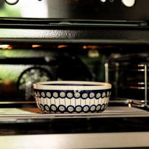 Bunzlauer Keramik Schüssel rund 20 cm Dekor D-8 Handarbeit