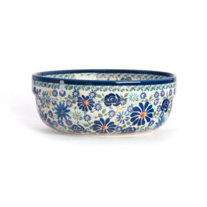 Bunzlauer Keramik Schüssel rund 20 cm Premium Kollektion DU-126 Handarbeit