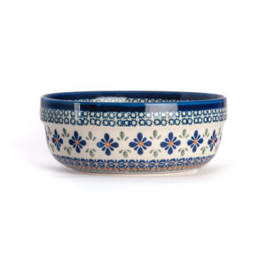 Bunzlauer Keramik Schüssel rund 20 cm Dekor DU-60 Handarbeit