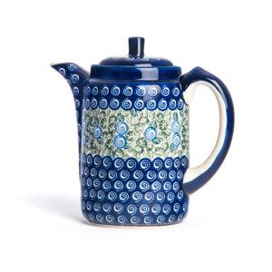 Bunzlauer Tee-/Kaffeekanne Kanne 1.2 L Dekor A-1073A Handarbeit