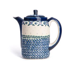 Bunzlauer Tee-/Kaffeekanne Kanne 1.2 L Dekor A-1163A Handarbeit