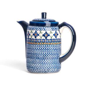 Bunzlauer Tee-/Kaffeekanne Kanne 1.2 L Dekor A-221A Handarbeit