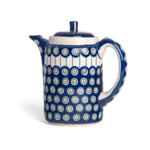 Bunzlauer Tee-/Kaffeekanne Kanne 1.2 L Dekor D-8 Handarbeit