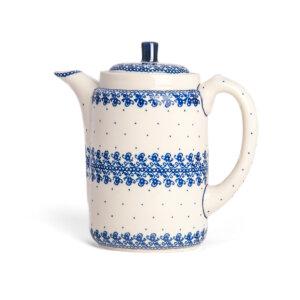 Bunzlauer Tee-/Kaffeekanne Kanne 1.2 L Dekor D-866 Handarbeit