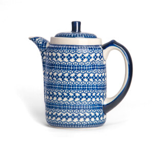 Bunzlauer Tee-/Kaffeekanne Kanne 1.2 L Dekor D-922 Handarbeit