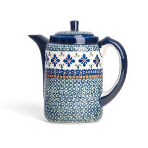 Bunzlauer Tee-/Kaffeekanne Kanne 1.2 L Dekor DU-60 Handarbeit