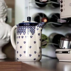 Bunzlauer Tee-/Kaffeekanne Kanne 1.2 L Dekor A-882A Handarbeit