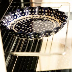 Bunzlauer Keramik Quicheform Tortenform Stern 26.5 cm Dekor A-166A