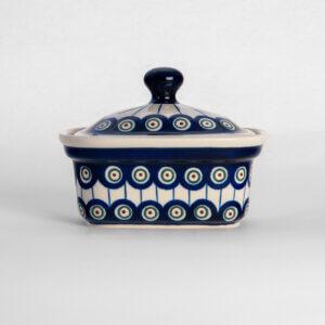 Bunzlauer Keramik Butterbox Butterdose für 250g Dekor D-8