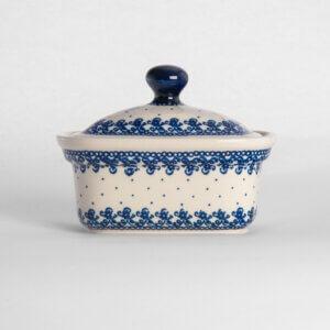 Bunzlauer Keramik Butterbox Butterdose für 250g Dekor D-866