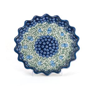 Bunzlauer Keramik Quicheform Tortenform Stern 26.5 cm Dekor A-1073A