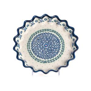 Bunzlauer Keramik Quicheform Tortenform Stern 26.5 cm Dekor A-1163A