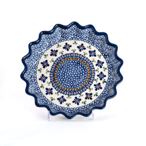 Bunzlauer Keramik Quicheform Tortenform Stern 26.5 cm Dekor A-221A