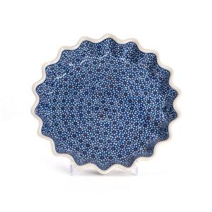 Bunzlauer Keramik Quicheform Tortenform Stern 26.5 cm Dekor D-120