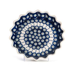 Bunzlauer Keramik Quicheform Tortenform Stern 26.5 cm Dekor D-8
