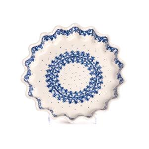Bunzlauer Keramik Quicheform Tortenform Stern 26.5 cm Dekor D-866