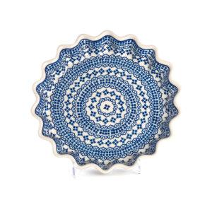 Bunzlauer Keramik Quicheform Tortenform Stern 26.5 cm Dekor D-922