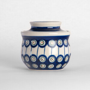 Französische Butterdose von Bunzlauer Keramik Dekor D-8