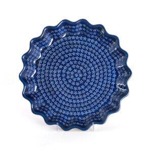 Bunzlauer Keramik Quicheform Tortenform Stern 32.5 cm Dekor A-226A