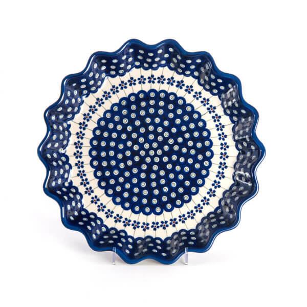 Bunzlauer Keramik Quicheform Tortenform Stern 32.5 cm Dekor A-166A