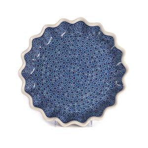 Bunzlauer Keramik Quicheform Tortenform Stern 32.5 cm Dekor D-120