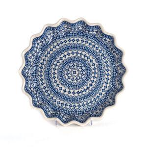 Bunzlauer Keramik Quicheform Tortenform Stern 32.5 cm Dekor D-922